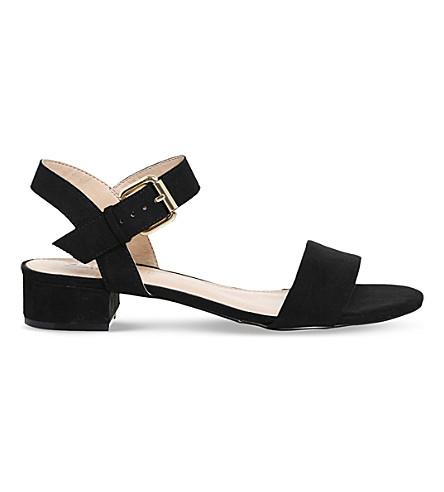 OFFICE Morgan faux-suede block heel sandals (Black