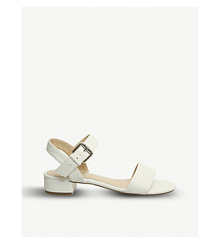 OFFICE Morgan faux-suede block heel sandals (White