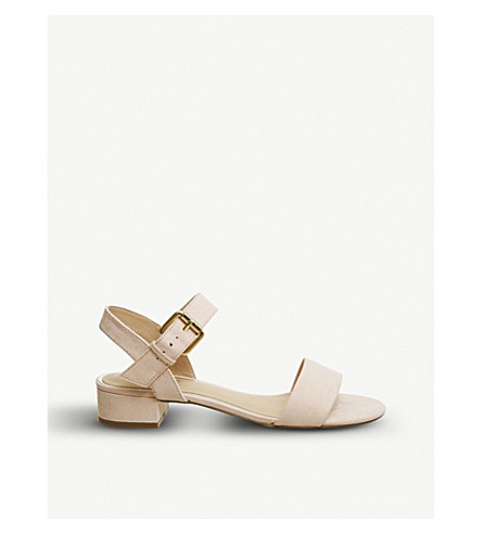 OFFICE Morgan faux-suede block heel sandals (Nude
