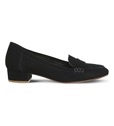 OFFICE Farrah suede block-heel loafers (Black+suede