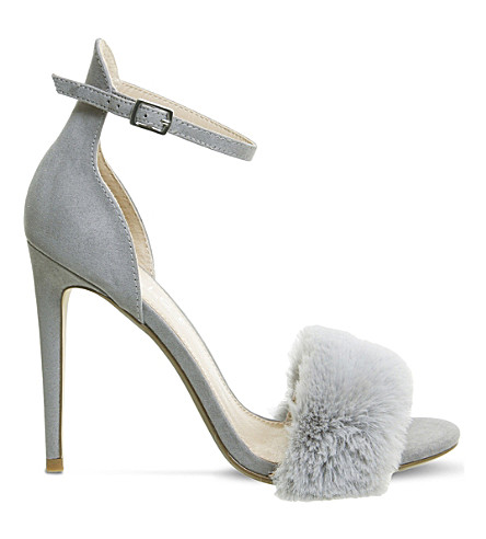OFFICE Huff Fluff faux-suede sandals (Grey