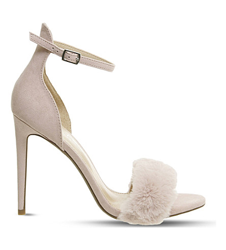 OFFICE Huff Fluff faux-suede sandals (Nude