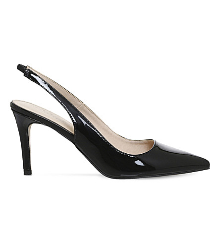 OFFICE Mister patent slingback courts (Black+patent