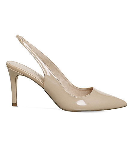 OFFICE Mister patent slingback courts (Nude+patent