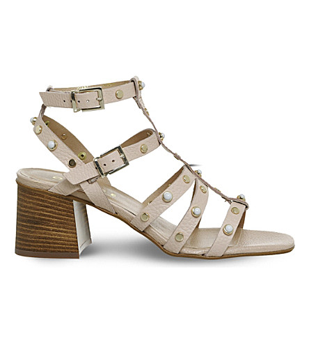 OFFICE Margate studded block heel sandals (Nude+leather