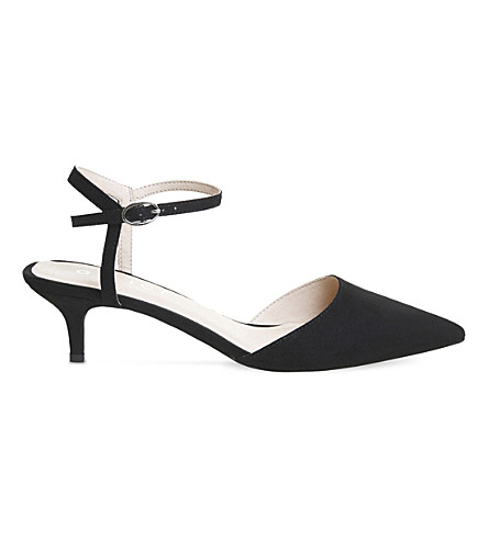 OFFICE Mitten faux-suede kitten heels (Black