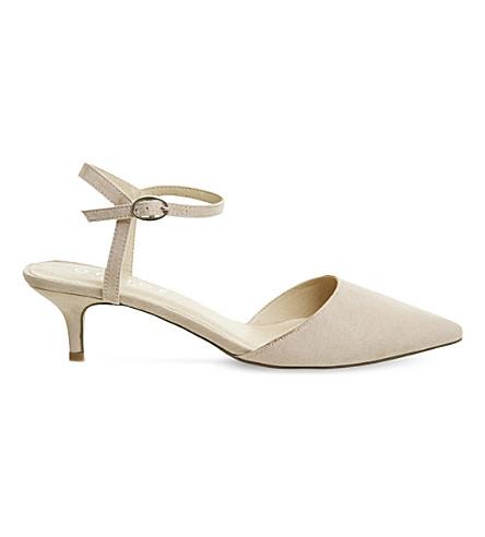 OFFICE Mitten patent kitten heels (Nude