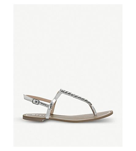 OFFICE Sprinkles embellished metallic sandals (Silver