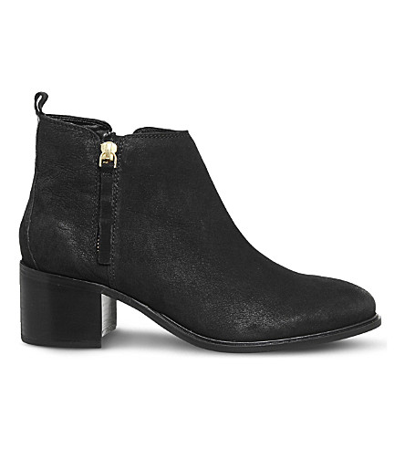 OFFICE Algebra leather ankle boots (Black+leather