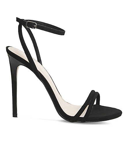 OFFICE Hibiscus suede sandals (Black