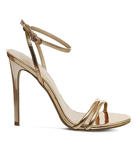 OFFICE Hibiscus metallic sandals (Rose+gold+mirror