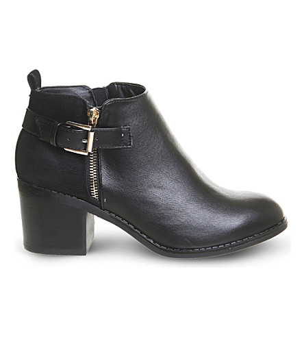 OFFICE Academy double-zip ankle boots (Black