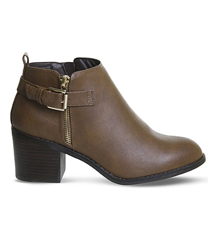 OFFICE Academy double-zip ankle boots (Tan