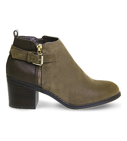 OFFICE Academy double-zip ankle boots (Chocolate