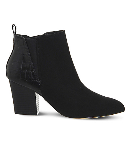 OFFICE Anabella croc-effect ankle boots (Black+croc