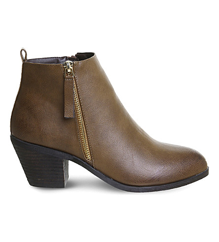 OFFICE Anita side-zip ankle boots (Tan