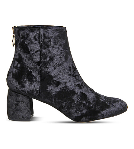 OFFICE Arch enemy velvet ankle boots (Black+velvet