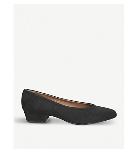 OFFICE My Girl high-vamp suede courts (Black+suede