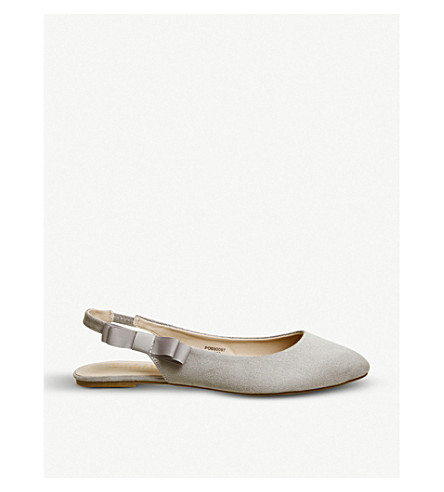 OFFICE Frappe faux-suede slingback pumps (Grey
