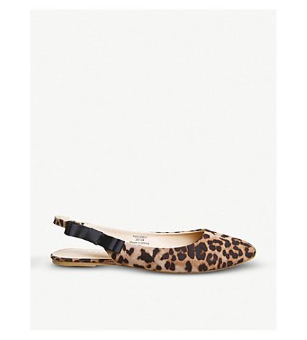 OFFICE Frappe faux-suede slingback pumps (Leopard
