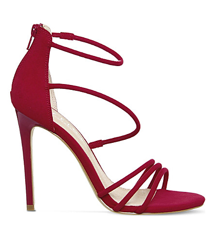 OFFICE Harness Strappy slim heeled sandals (Red