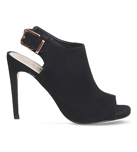 OFFICE Heist peep toe stiletto heel boots (Black
