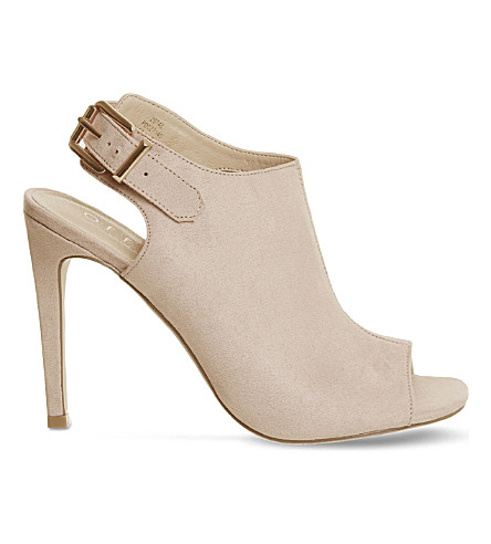 OFFICE Heist peep toe stiletto heel boots (Nude