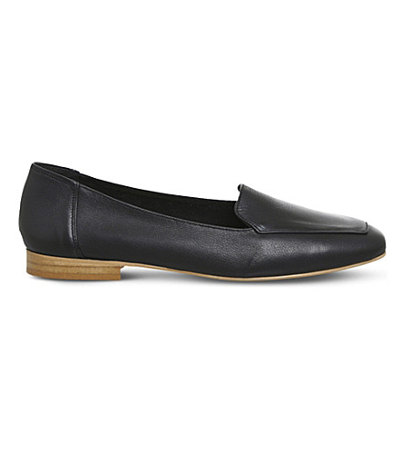 OFFICE Fundamental leather loafers (Black+leather