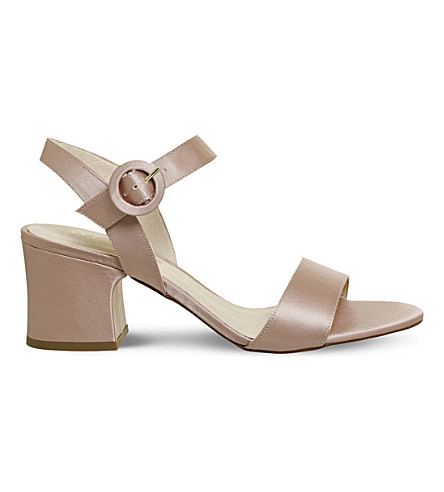 OFFICE Melbourne satin block heel (Nude+satin