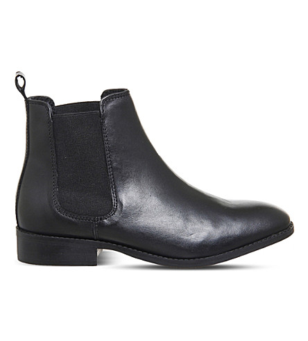 OFFICE 荆棘皮革切尔西靴 (黑色 + 皮革