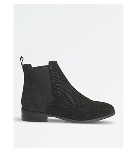 OFFICE Bramble embossed suede ankle boots (Black+embossed+suede