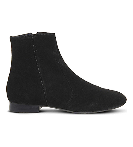 OFFICE Avenue suede ankle boots (Black+suede