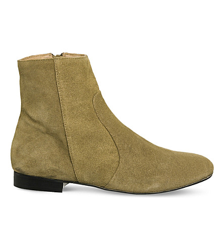 OFFICE Avenue suede ankle boots (Sand+suede