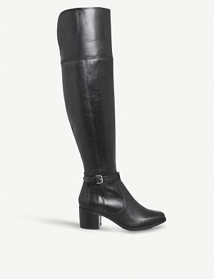 Black OFFICE Khloe stretch over the knee boot Official Shop