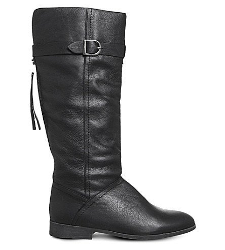 OFFICE Kilter leather boots (Black+leather