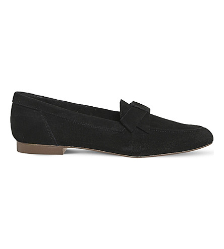 OFFICE Fairy Floss suede loafers (Black+suede