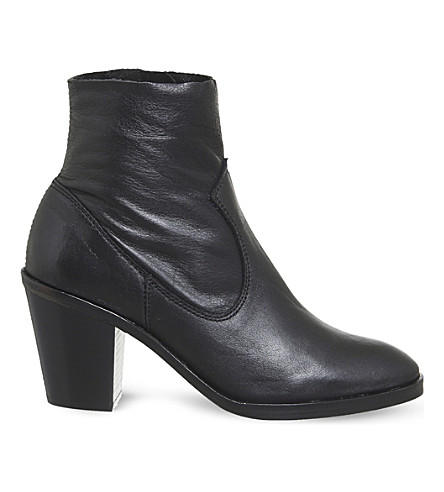 OFFICE Angie heeled leather ankle boots (Black+leather