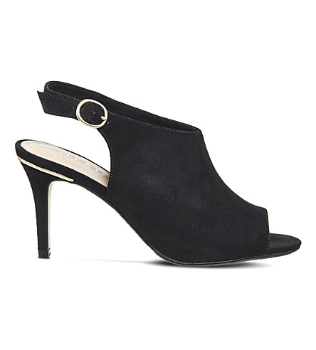 OFFICE Mario faux-suede slingback courts (Black