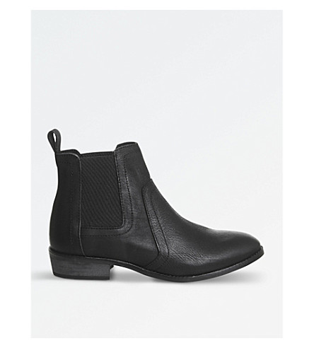 OFFICE Addison leather Chelsea boots (Black+leather