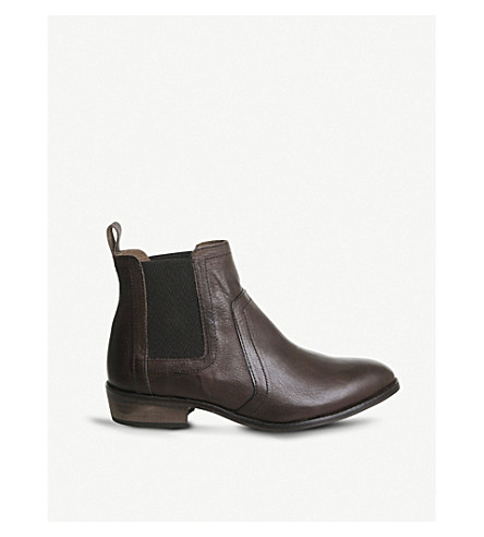 OFFICE Addison leather Chelsea boots (Tan+leather