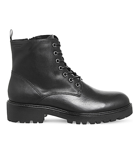 VAGABOND Kenova leather boots (Black+leather