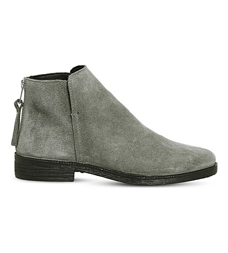 OFFICE Alfie suede ankle boots (Grey+suede