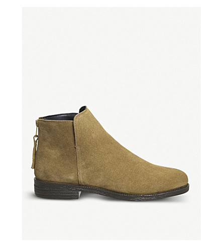 OFFICE Alfie zipped suede ankle boots (Tan+suede
