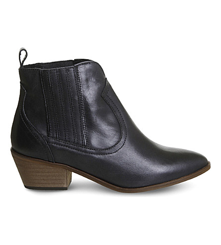 OFFICE America leather Chelsea boots (Black+leather