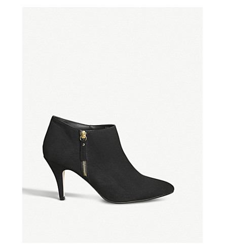 OFFICE May zipped faux-suede ankle boots (Black