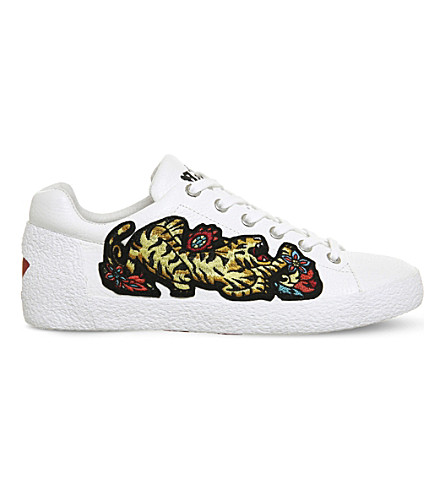 ASH Niagara embroidered leather trainers (White+leather