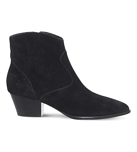 ASH Heidi bis suede ankle boots (Black+soft+suede