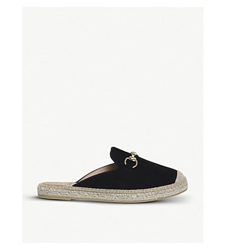 OFFICE多拉麂皮绒帆布鞋 (黑色 + 麂皮绒