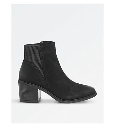 OFFICE Aldgate block-heel Chelsea boots (Black+nubuck