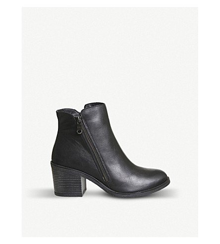 OFFICE Archway zipped leather ankle boots (Black+leather